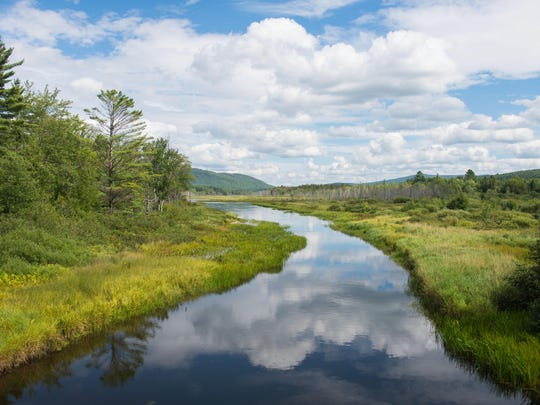 View of the Clyde River in northern Vermont.