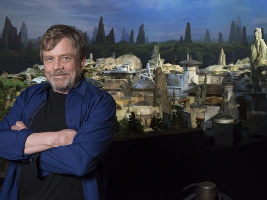 Mark Hamill Visits Star Wars: Galaxy's Edge