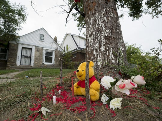 A makeshift memorial on Tuesday honors Jerry Bradford