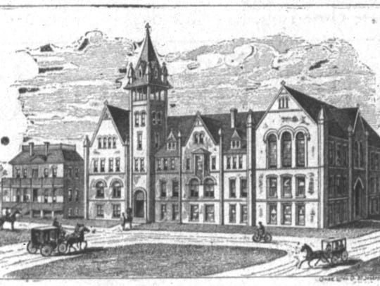 Drawing of the new Normal School, ca. 1894