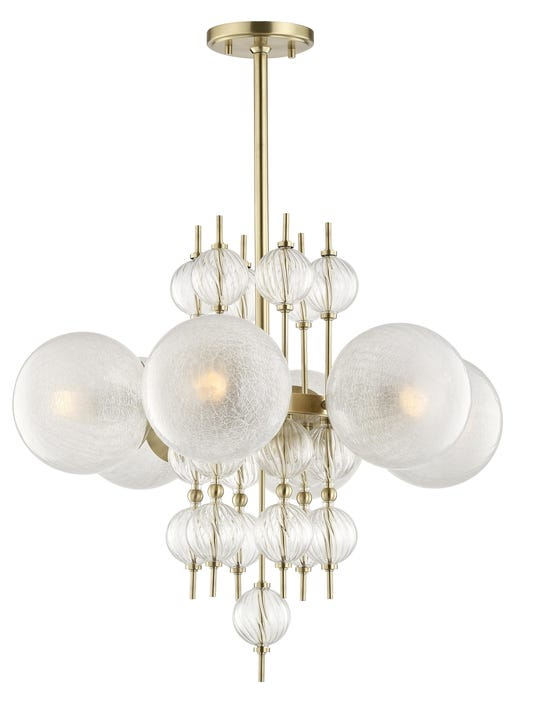 Calypso Chandelier Brass (1)