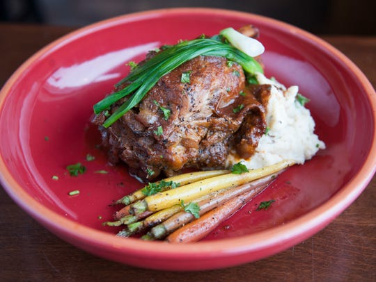 The 6 Hour Roasted Pork Shank at Center Square Tavern