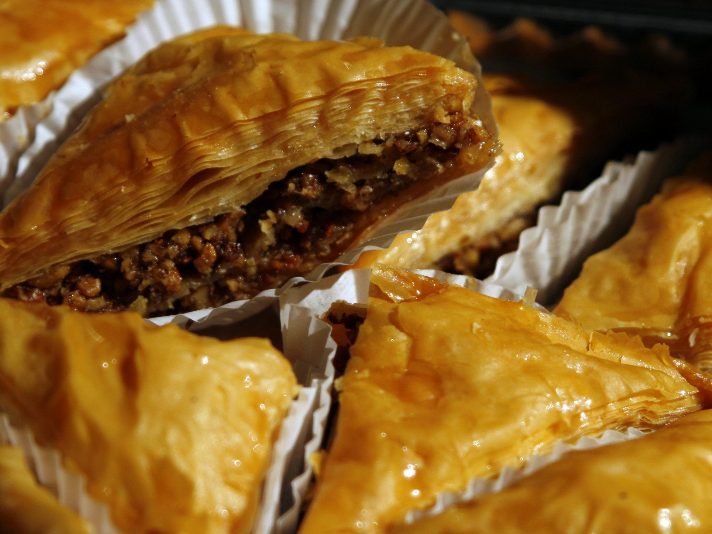 Baklava will be among the 40,000 pieces of pastry that will sold at the Greek Festival at Holy Trinity Greek Orthodox Church.