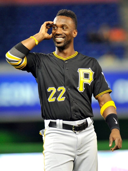 Andrew mccutchen 39 s 4 rbi lead pirates past marlins for Mitchell s fish market pittsburgh