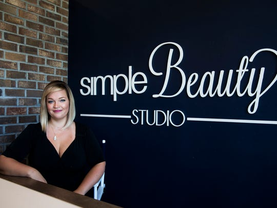 Owner and stylist Kiley Abazi at her salon, Simple Beauty Studio, in North Naples on Thursday, Aug. 17, 2017.