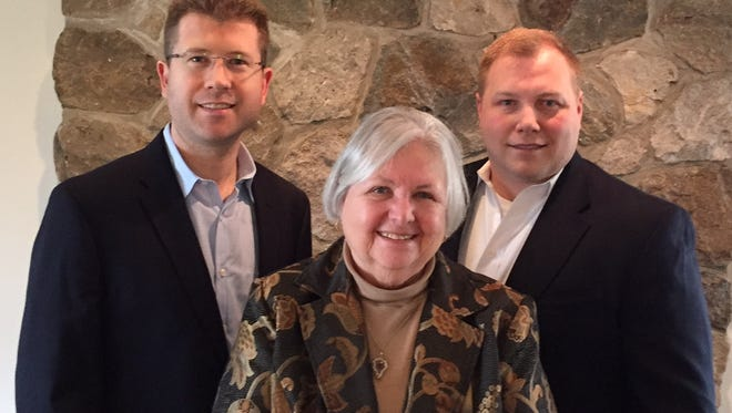 From left, Mitch Horn, Rozella Clyde and John Von Achen, Democratic candidates for Morris County freeholder seats