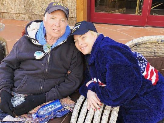Sen. John McCain and his daughter, Meghan, in an undated