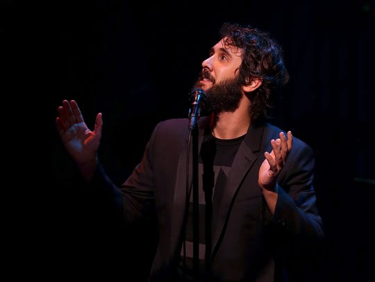 Josh Groban performs during the Hillary Victory Fund