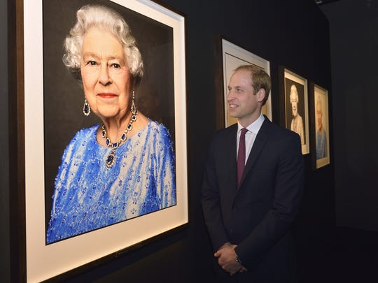Prince William admires the David Bailey Portrait of