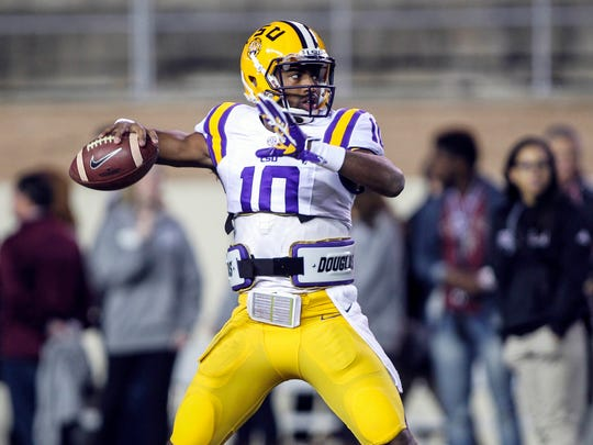 LSU quarterback Anthony Jennings is facing a felony