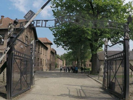 Michelle Moore's visit to Auschwitz was moving.