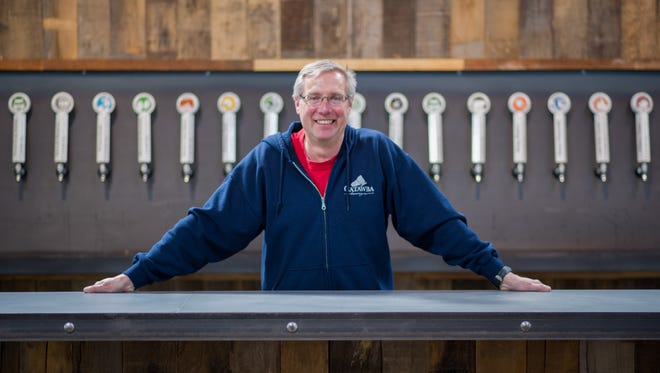 Catawba Brewing co-owner Billy Pyatt stands at his South Slope brewery location in 2015.