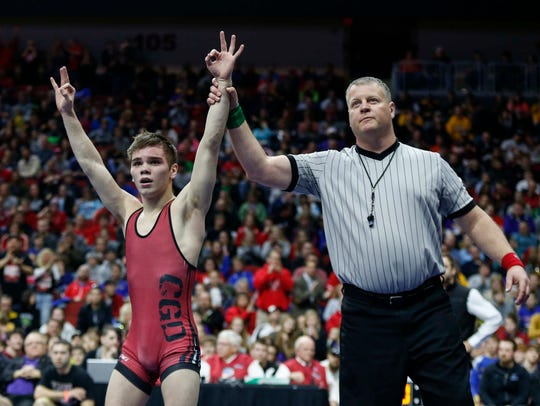Josh Portillo won three state titles for Clarion-Goldfield-Dows. He earned All-American honors for the University of Nebraska-Kearney last season and is ranked No. 2 nationally at 125 pounds this season.
