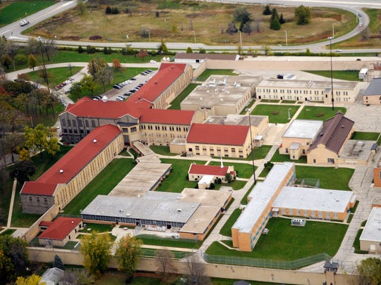 An aerial shot of the Green Bay Correctional Institution on Riverside Drive in Allouez.