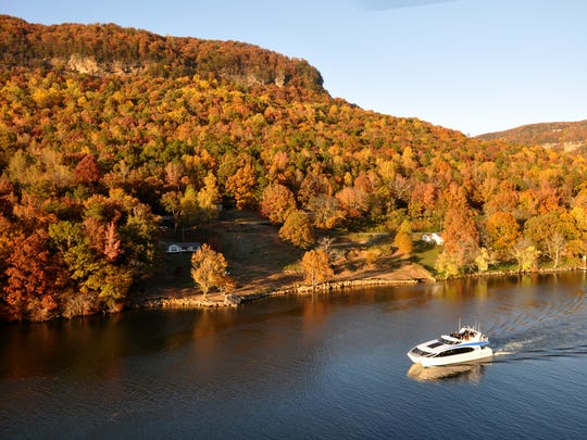 The Tennessee Aquarium's River Gorge Explorer takes passengers to the Tennessee River Gorge daily, with special fall excursions planned during peak leaf season.