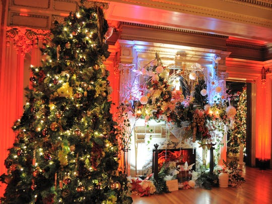 Home for the Holidays at Roberson Museum and Science Center includes trees decorated by local groups and individuals.