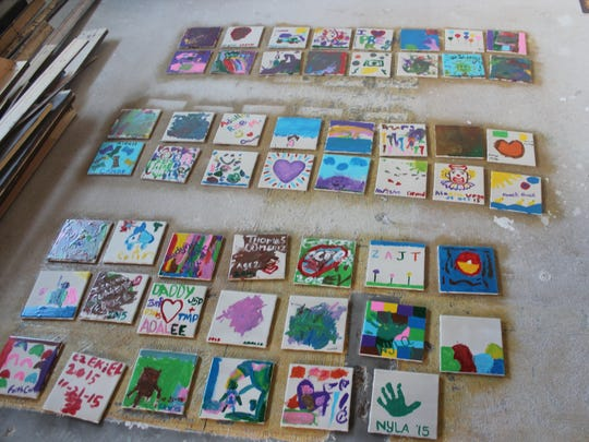 Schools throughout Otero County painted tiles for the Kids Inc. Child Advocacy Center which will be used as decor throughout the whole building.