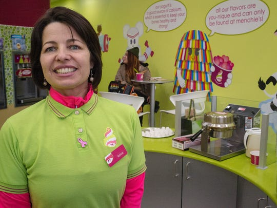 Larissa Martins, owner of the new Menchie's in the