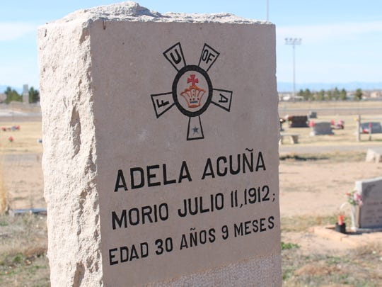 This is one of many headstones in the family care portion of the Monte Vista Cemetery.