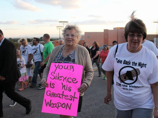 Take Back the Night Alamogordo's objective is to support those who have been sexually abused, sexually assaulted or have been victims of domestic abuse.