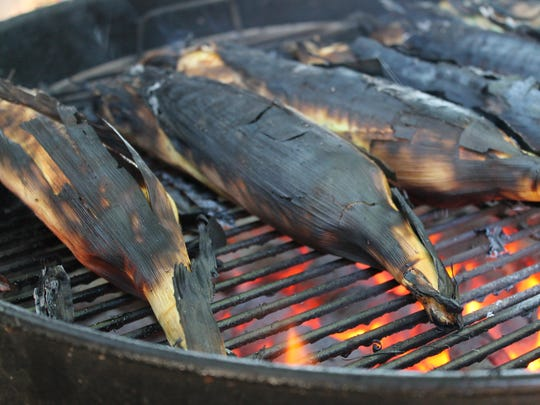 Black is the new green for corn on the grill.
