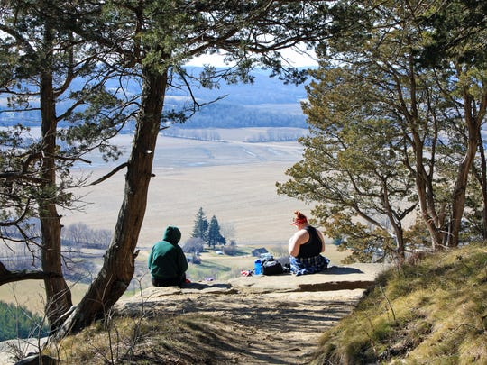 Picnics come with a great view at Gibraltar Rock State Natural Area near Lodi.