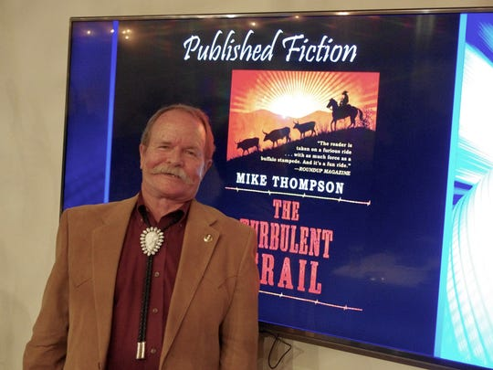 "San Angelo author Mike Thompson recently won a second-place award from the Arizona Authors' Association for his western book ""The Turbulent Trail."""
