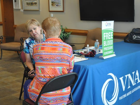 Community Wellness Nurse Rose Geosits provides a free
