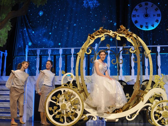 "Mariemont High School students performing ""Cinderella."""