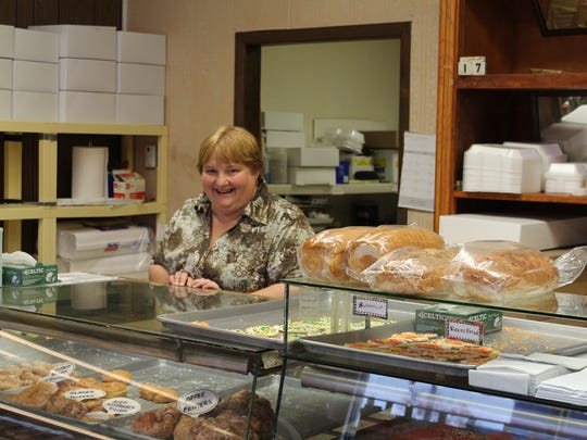 Baldwin, co-owner of Willow Street Bakery, says doughnuts and kneecaps are among the shop's most popular items.