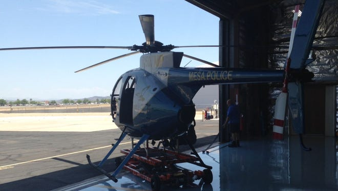 Mesa police took delivery of a $3.2 million helicopter on June 29, 2015.