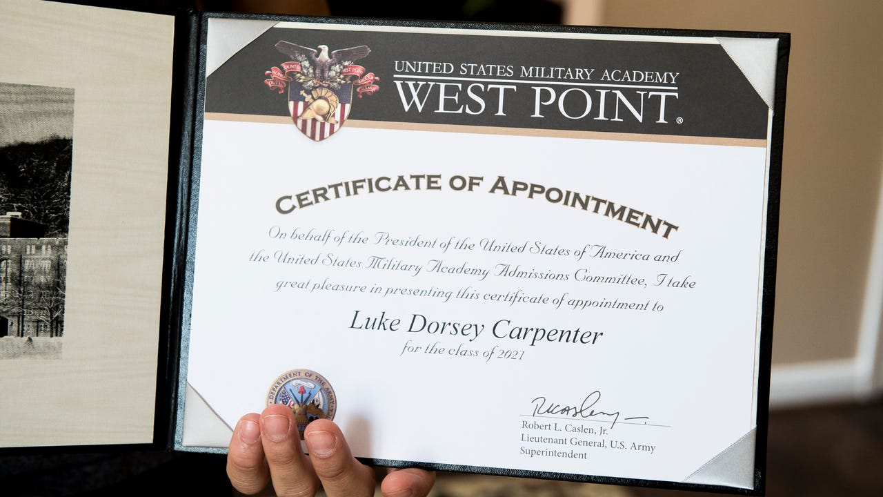 Delone grad inspired to serve by veterans