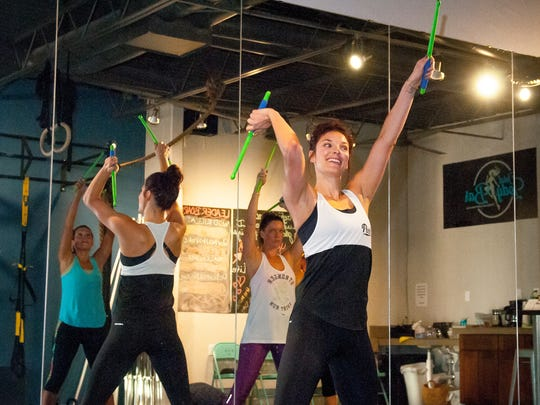 """Total Body Bar owner Tierney Jeffers leads a """"Pound"""