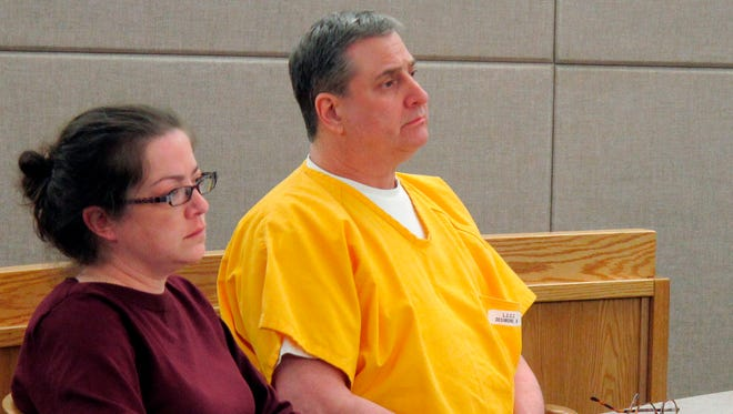 In this  April 19, 2018, photo, Mark Desimone, (right) sits next to his attorney Deborah Macaulay, during a pretrial hearing in Juneau, Alaska. Desimone, a former Arizona legislator, is charged in the shooting death of an Alaska man in 2016. Jury selection is expected to start  April 23.