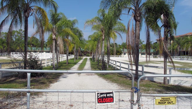 The nearly 4-acre property that was the longtime home to Bobbin Hollow Equestrian Center is for sale on Vanderbilt Beach Road in North Naples.
