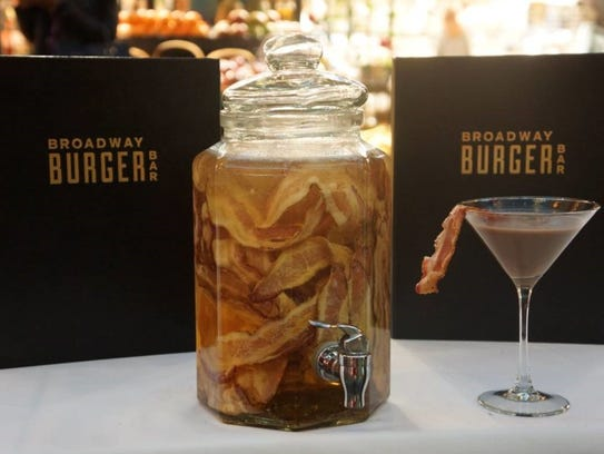 Treat yourself to a glass of bacon-infused bourbon at Broadway Burger ...