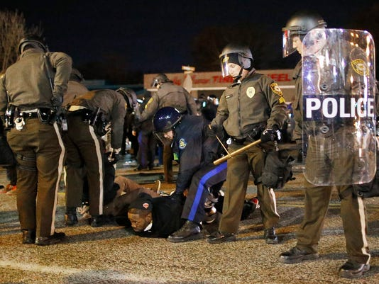 Protests after Grand Jury decision teenager shot by police