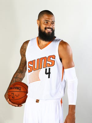 Sep 26, 2016: Phoenix Suns center Tyson Chandler poses for a portrait during media day at Talking Stick Resort Arena.
