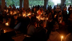 A candlelight vigil is held for Akilah Dasilva in Centennial