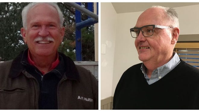 Art Hultin, left, Ted Malone