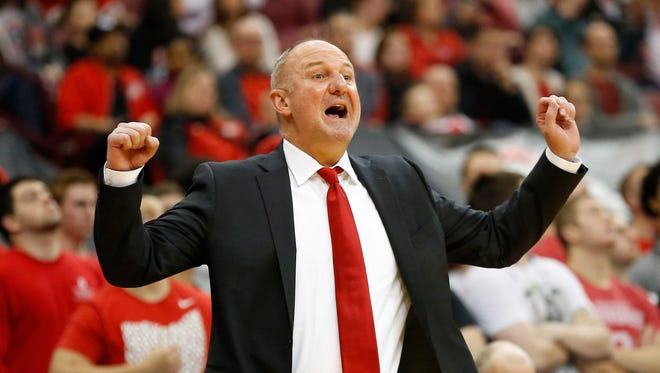Ohio State Buckeyes head coach Thad Matta during the second half against the Nebraska Cornhuskers at Value City Arena on Feb. 18.
