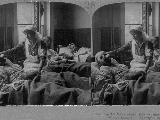 """This stereoscopic image from """"Soldiers' Stories"""" shows"""