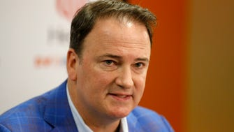 FC Cincinnati General Manager Jeff Berding speaks during a press conference to announce the latest developments in the FC Cincinnati soccer-specific stadium construction plans at FC Cincinnati's office in downtown Cincinnati on Tuesday, Nov. 14, 2017. The team ownership announced a plan to privately finance 100 percent of the $200 million project to build a 21,000 seat stadium. Public funds would still be required to build and improve infrastructure to support the project.