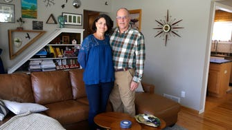 Gail and Jim Zieman, both Realtors, downsized from a large house in Genesee Depot to a smaller brick ranch in the Story Hill neighborhood.
