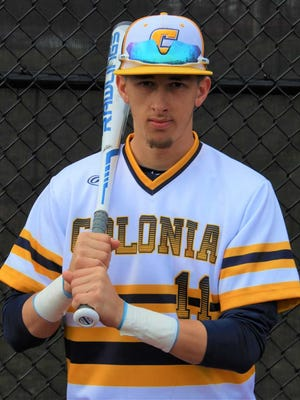 Colonia's Frank Lehmann was voted as the MyCentralJersey.com's Greater Middlesex Conference Readers' Choice Baseball Player of the Month.