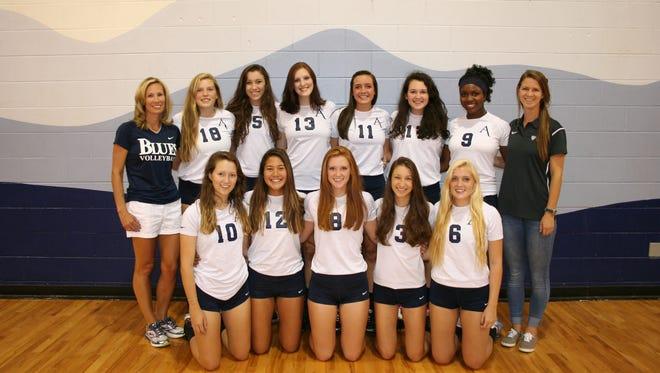 Asheville School's volleyball team.