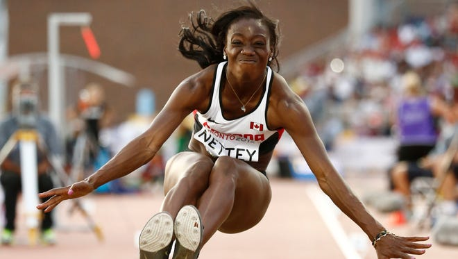 Former ASU long jumper Christabel Nettey won a gold medal for Canada at the Pan American Games.