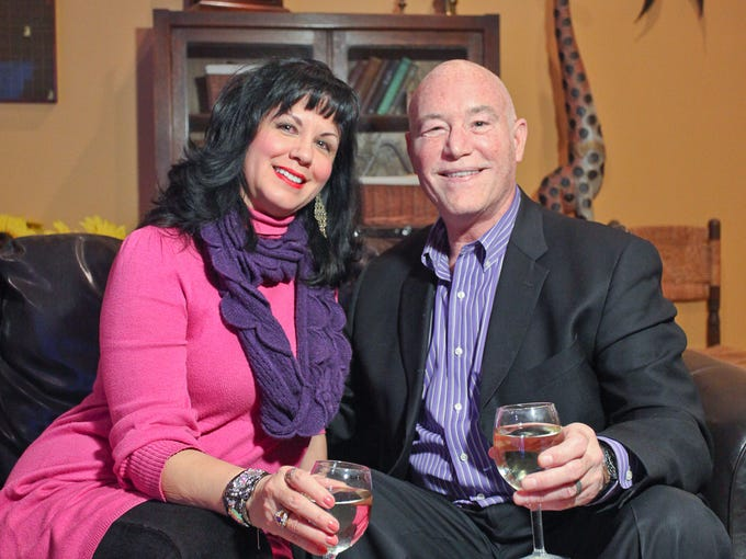 Lisa Rae and Frank Poschinger in their home in Louisville, KY. Jan. 24, 2014