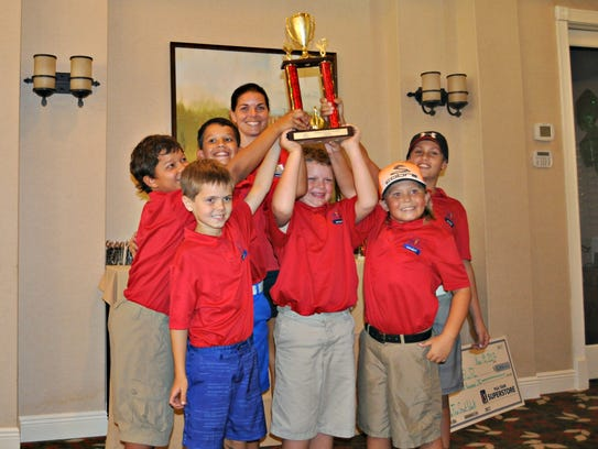 Seagate Elementary School won the Silver Division of The First Tee Elementary School Championship on Saturday at Quail Village Golf Club.
