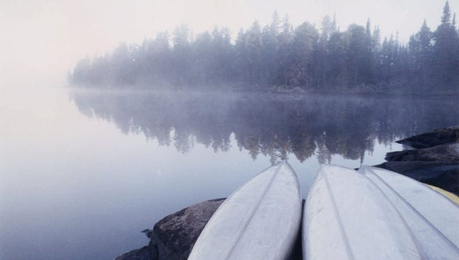 Morning fog covers the Boundary Waters Canoe Area Wilderness in this file photo.